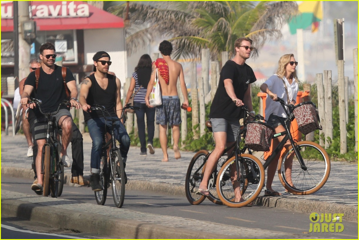 paul wesley candice king hit the beach in rio 033895358