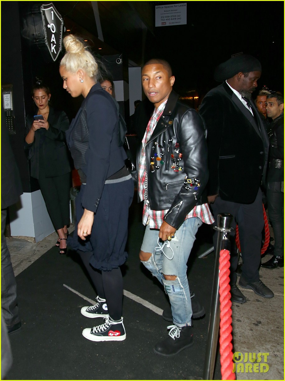 pharrell williams wife helen lets her arms loose for met gala after party 2017 033893795
