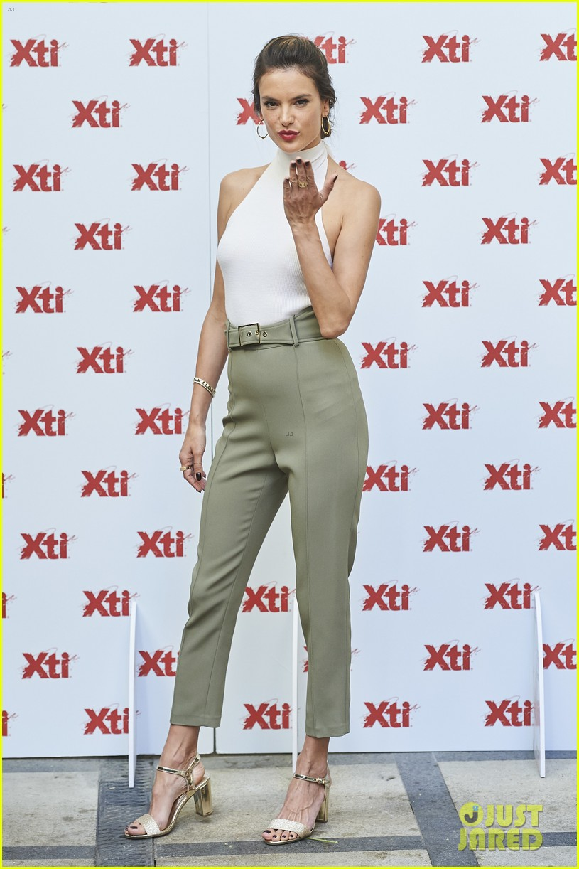 alessandra ambrosio hits madrid for xti shoes summer collection launch 093908385