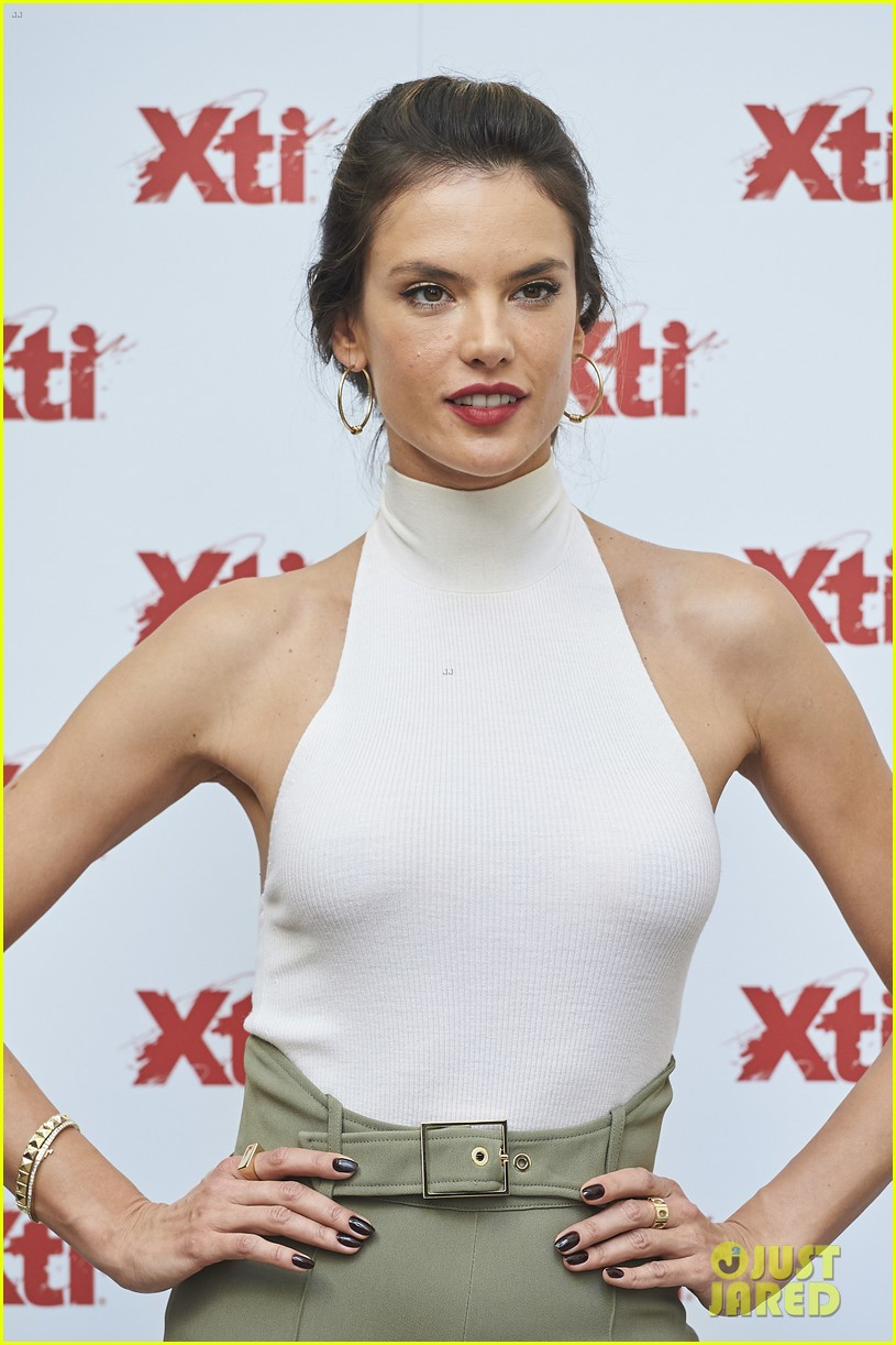 alessandra ambrosio hits madrid for xti shoes summer collection launch 123908388
