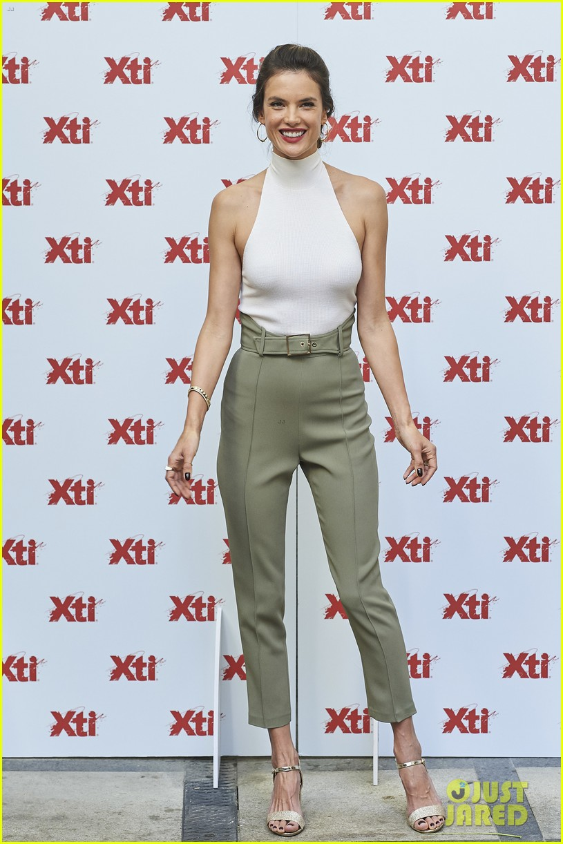 alessandra ambrosio hits madrid for xti shoes summer collection launch 133908389