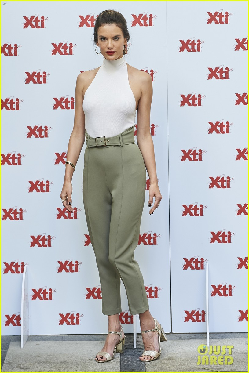 alessandra ambrosio hits madrid for xti shoes summer collection launch 153908391
