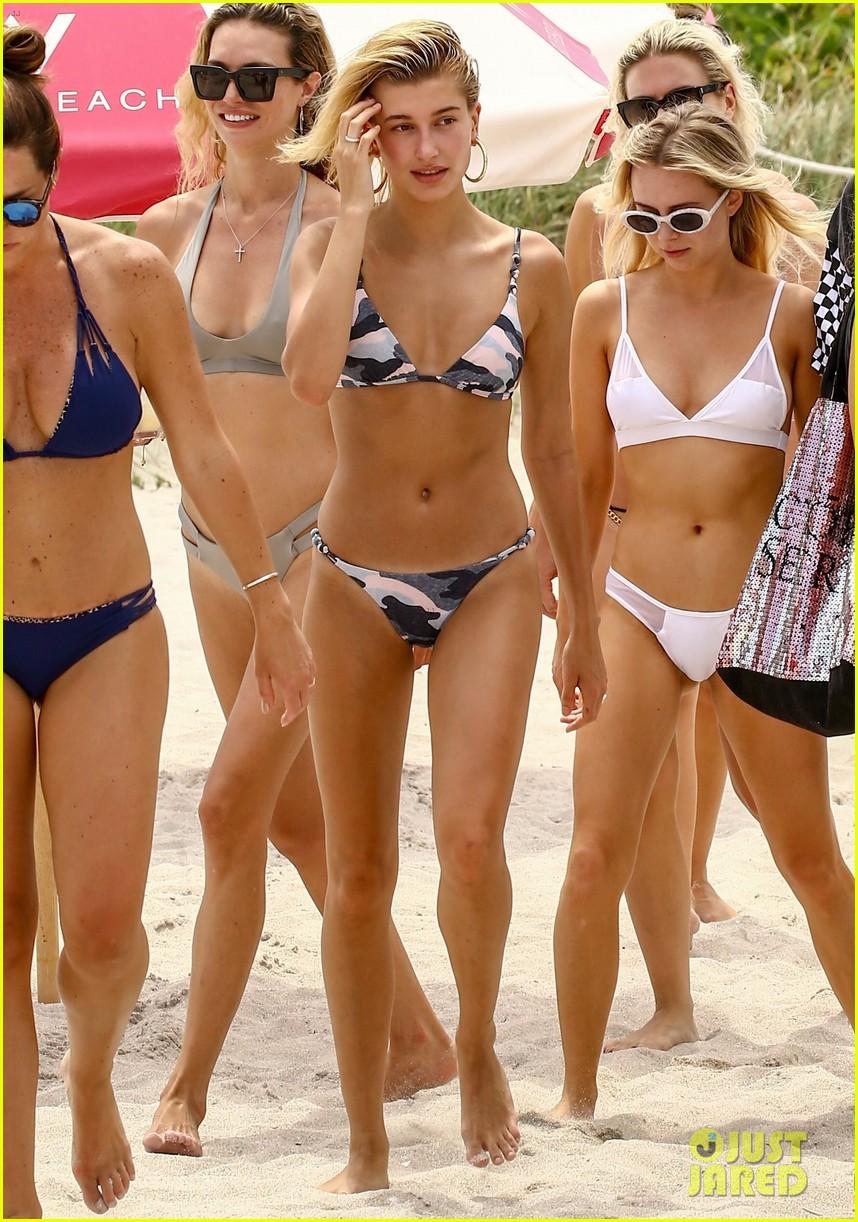 hailey baldwin takes a dip in her camo bikini 033912626