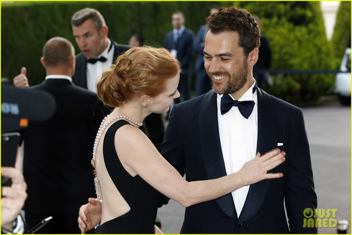 jessica chastain is married to gian luca passi de preposulo photo