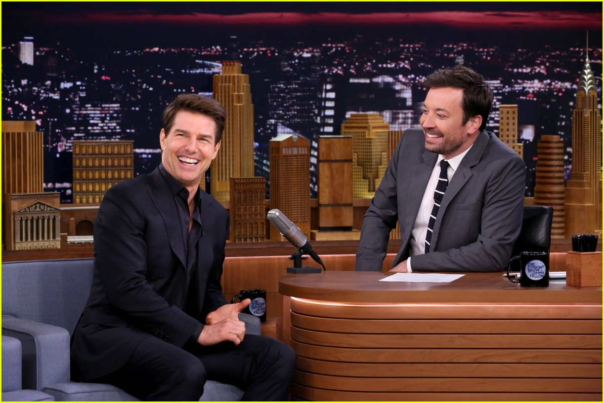 Tom Cruise & Jimmy Fallon Perform Short Skits Written by