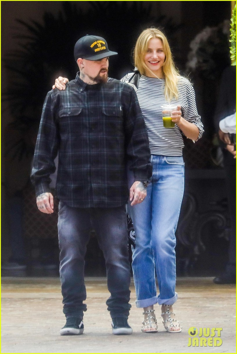 Cameron Diaz Amp Benji Madden Show Some Pda After Lunch