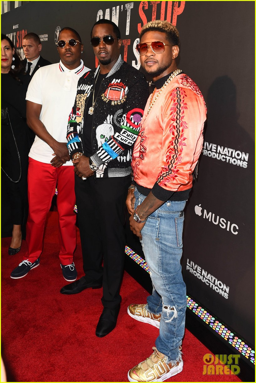 diddy gets major support at cant stop wont stop premiere 013917978