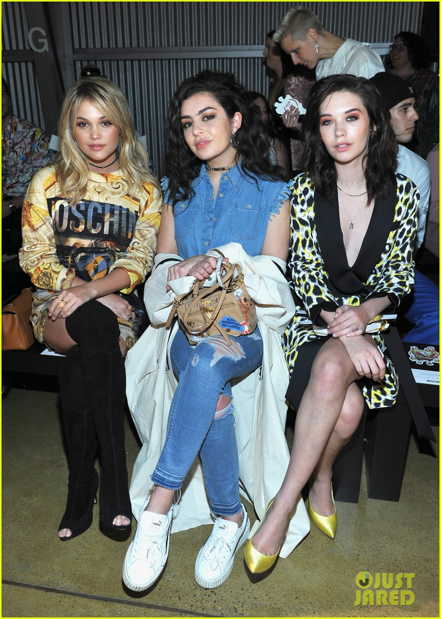 dnce match in out of this world outfits at moschino show 053911898