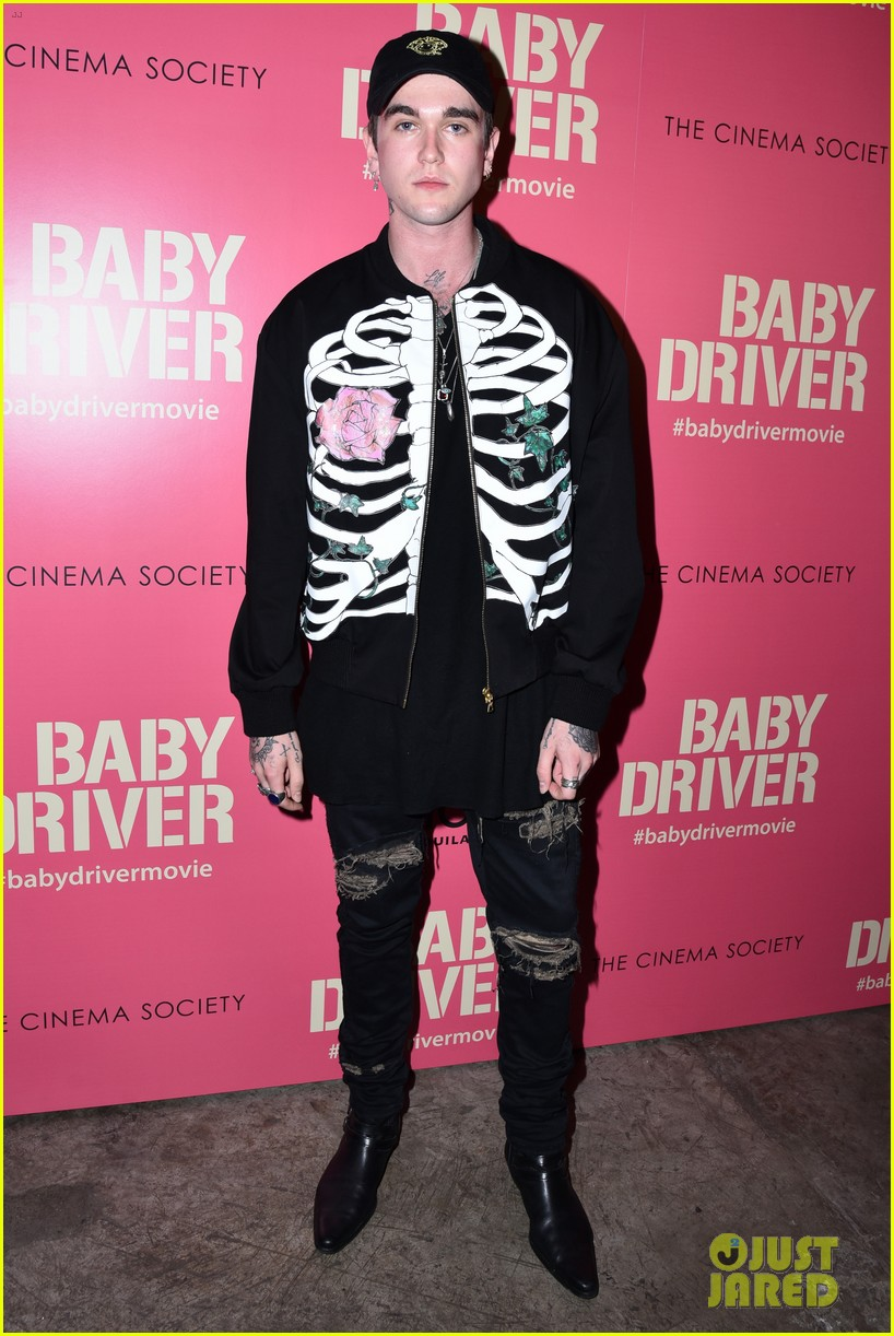 ansel elgort gets star studded support at baby driver nyc screening 133920504