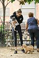 gigi hadid takes zayn maliks puppy to the park 08