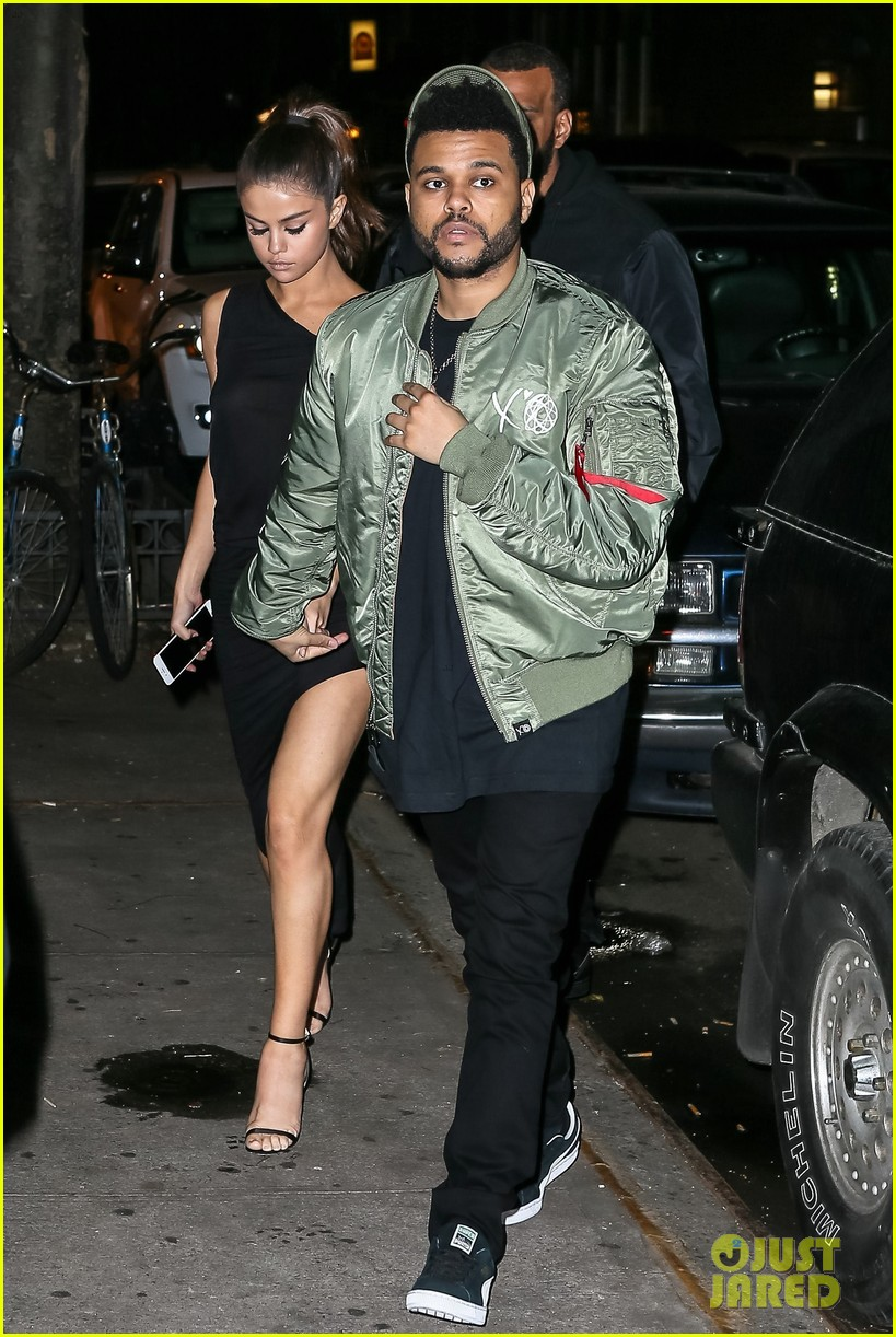selena gomez wears sheer dress for date with the weeknd 093910406