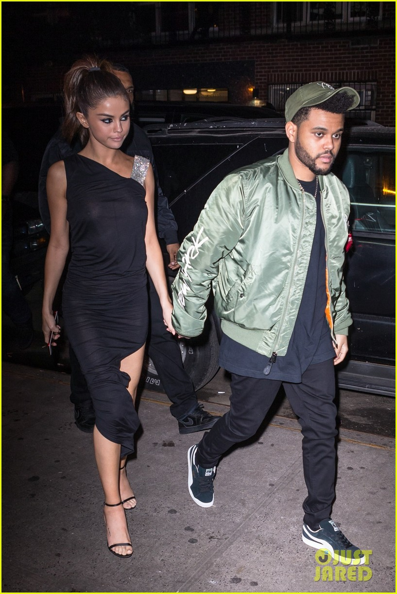 selena gomez wears sheer dress for date with the weeknd 123910409