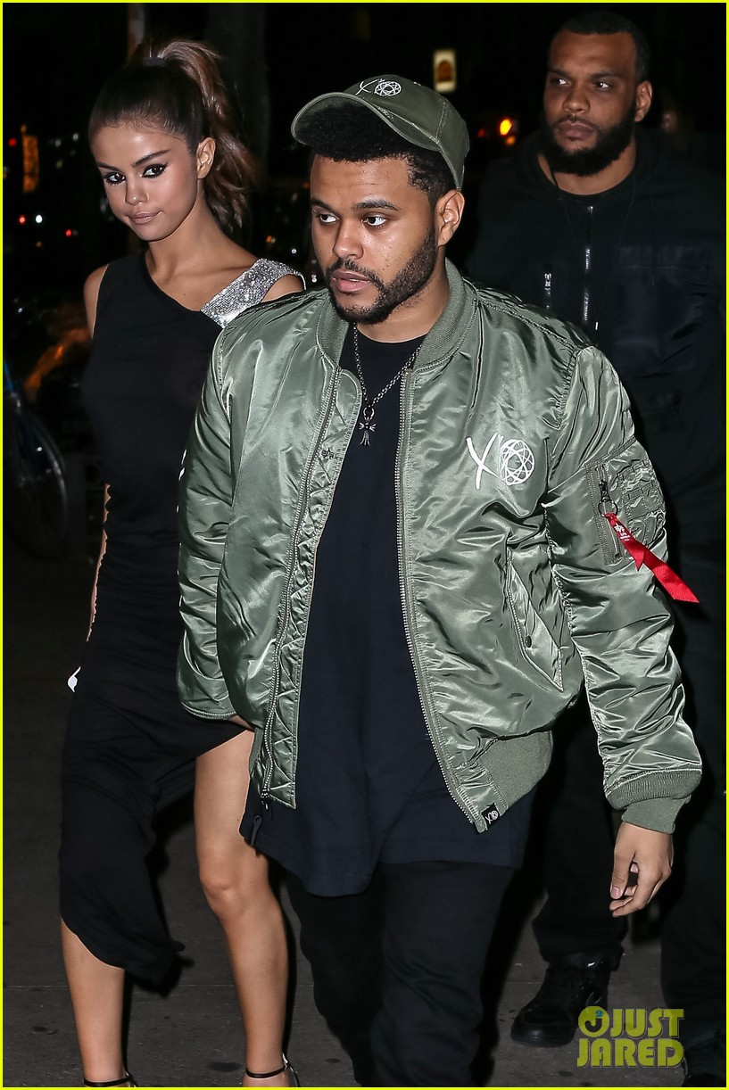 selena gomez wears sheer dress for date with the weeknd 133910410