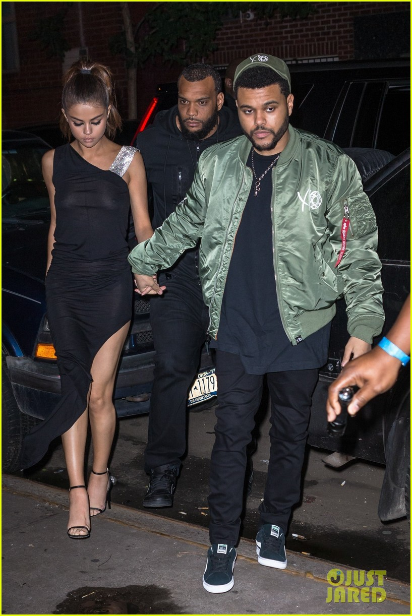 selena gomez wears sheer dress for date with the weeknd 173910414
