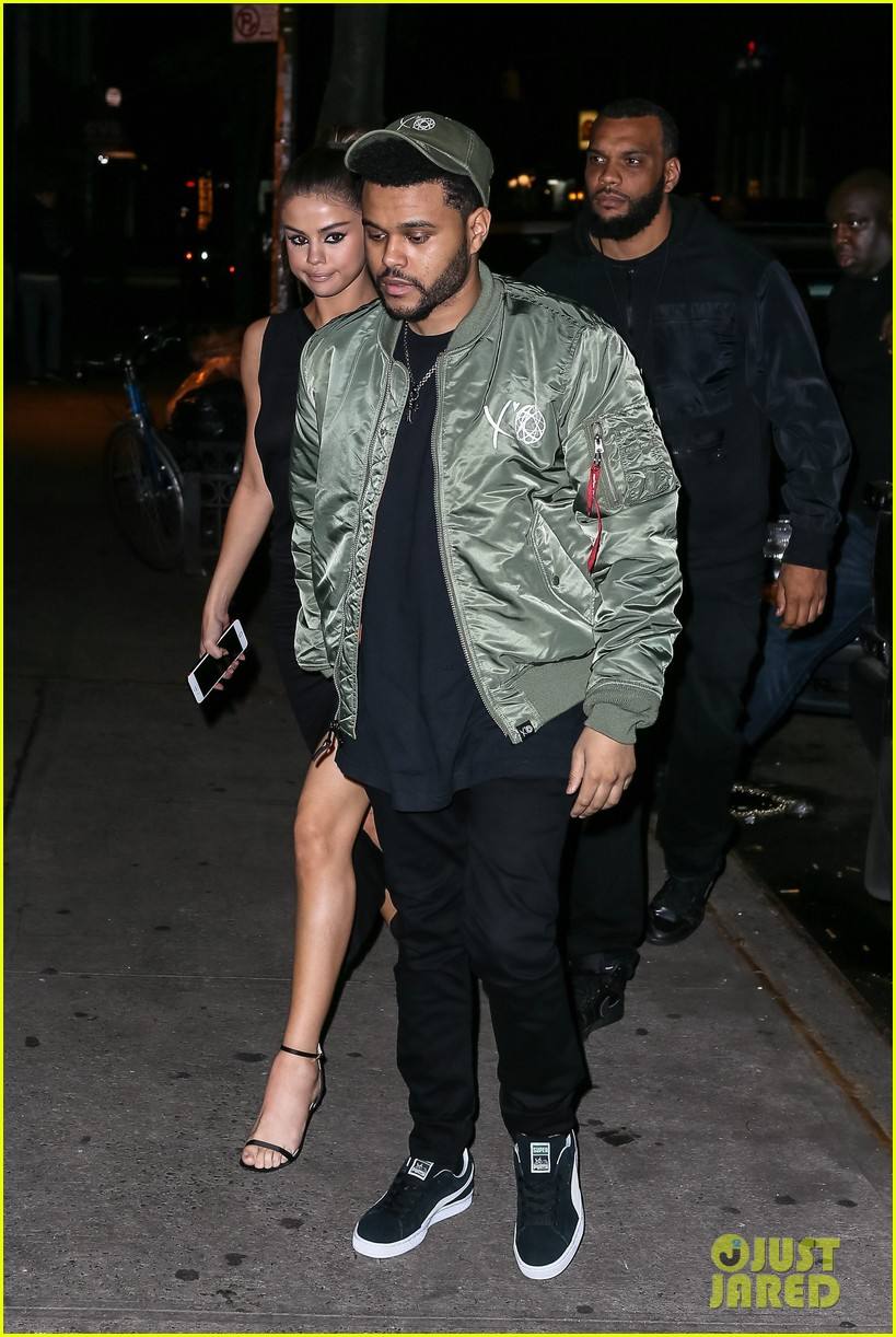 selena gomez wears sheer dress for date with the weeknd 343910431
