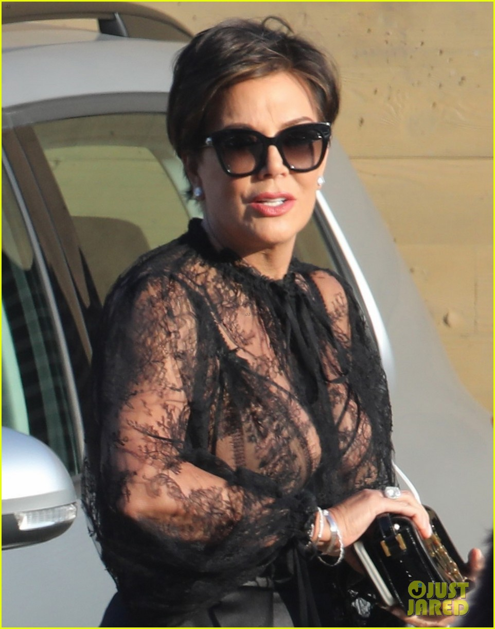 Kris Jenner Wears Sheer Top At Dinner With Jada Pinkett Smith Photo