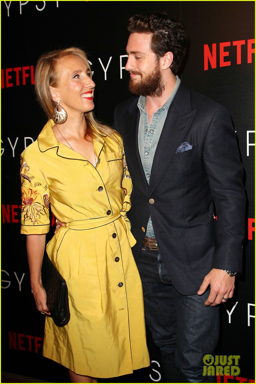 aaron taylor johnson supports wife sam at gypsy premiere 033921676