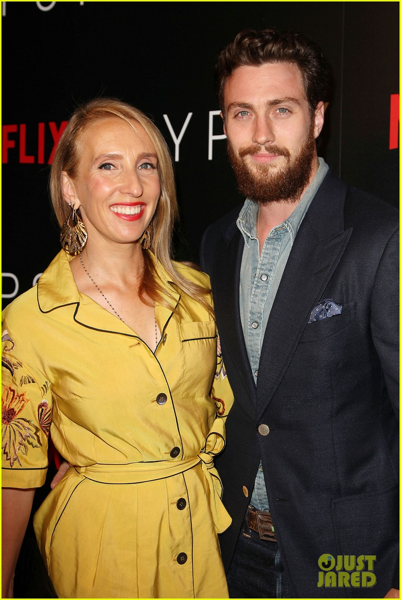aaron taylor johnson supports wife sam at gypsy premiere 043921677