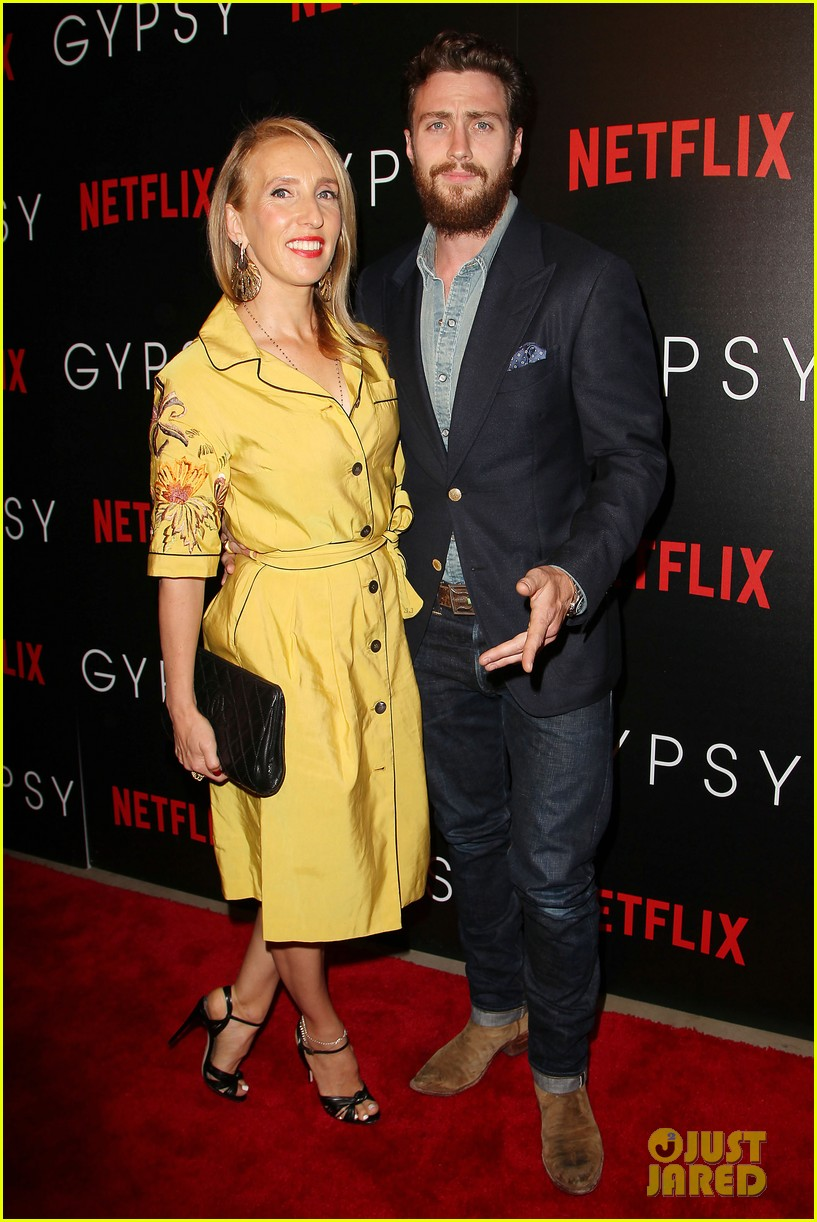 aaron taylor johnson supports wife sam at gypsy premiere 073921680