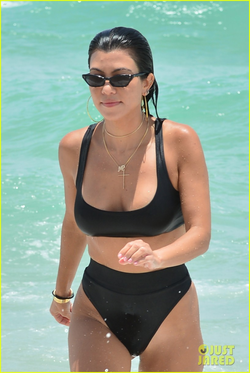 kourtney kardashian miami beach pictures hailey baldwin 373913476