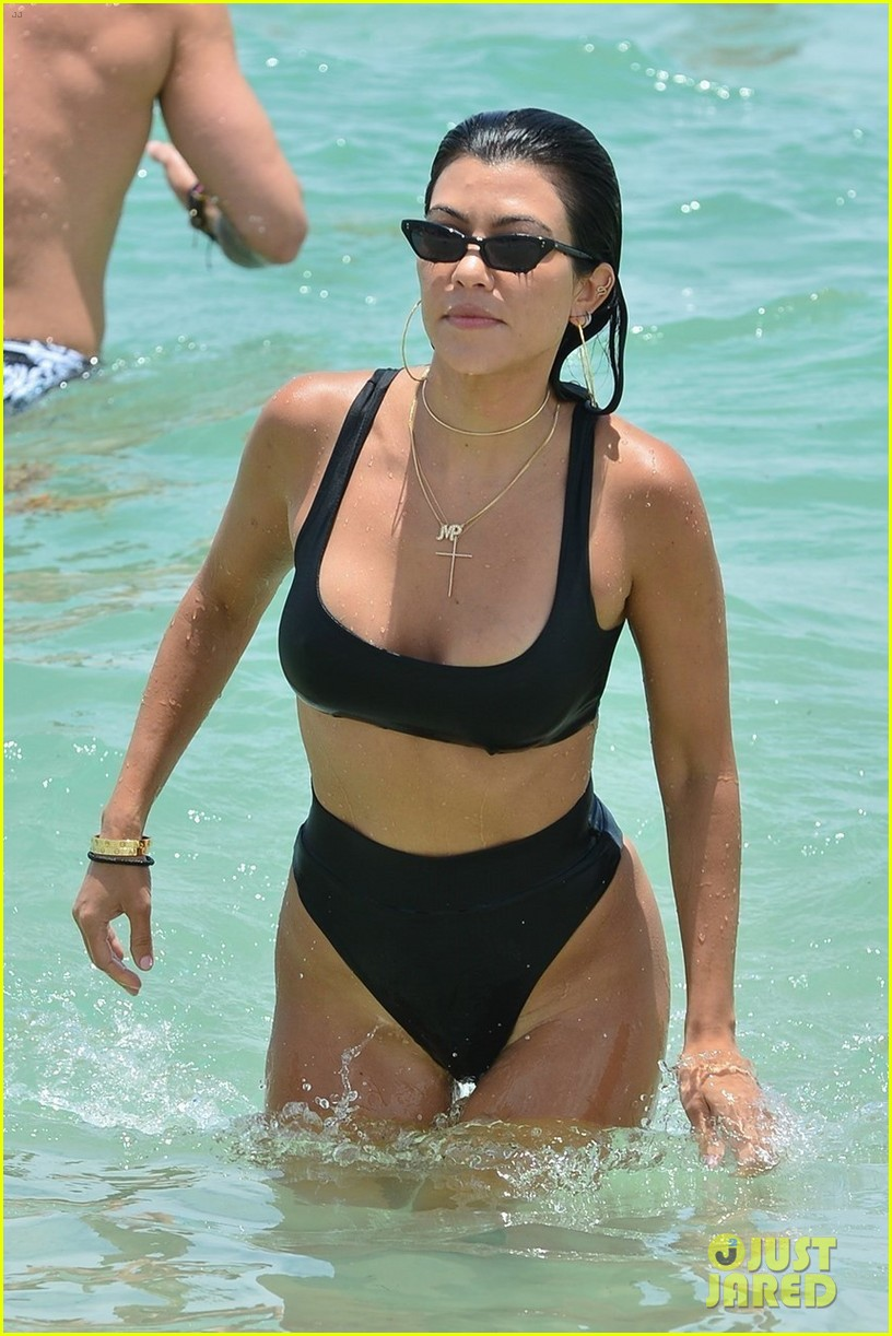 kourtney kardashian miami beach pictures hailey baldwin 493913488