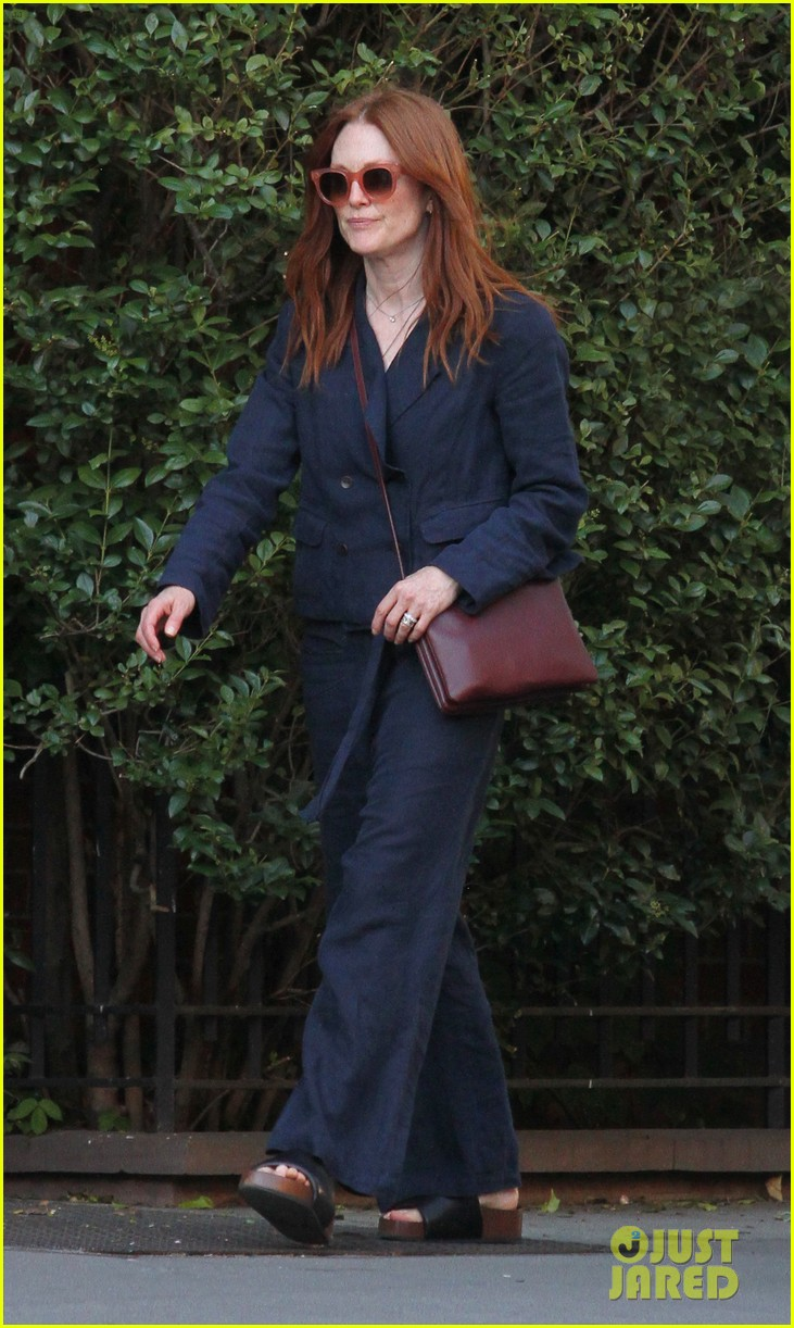 julianne moore and husband bart freundlich chat it up in nyc 013909031