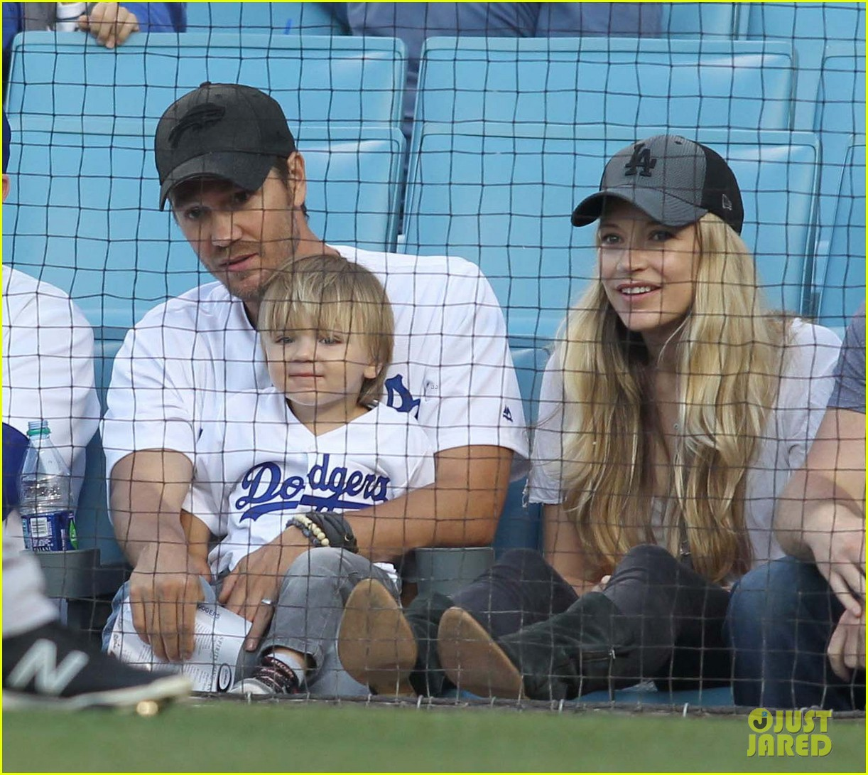 Chad Michael Murray & Sarah Roemer Take Their Son to Dodgers ...