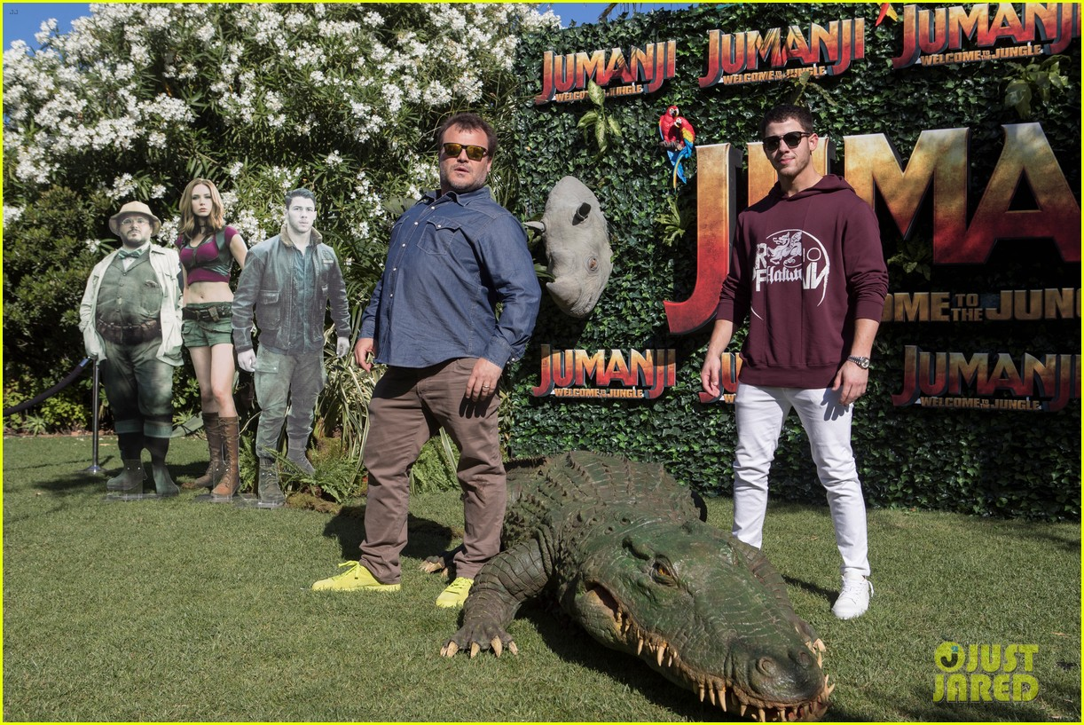 jack black nick jonas face off during jumanji promo 053916131