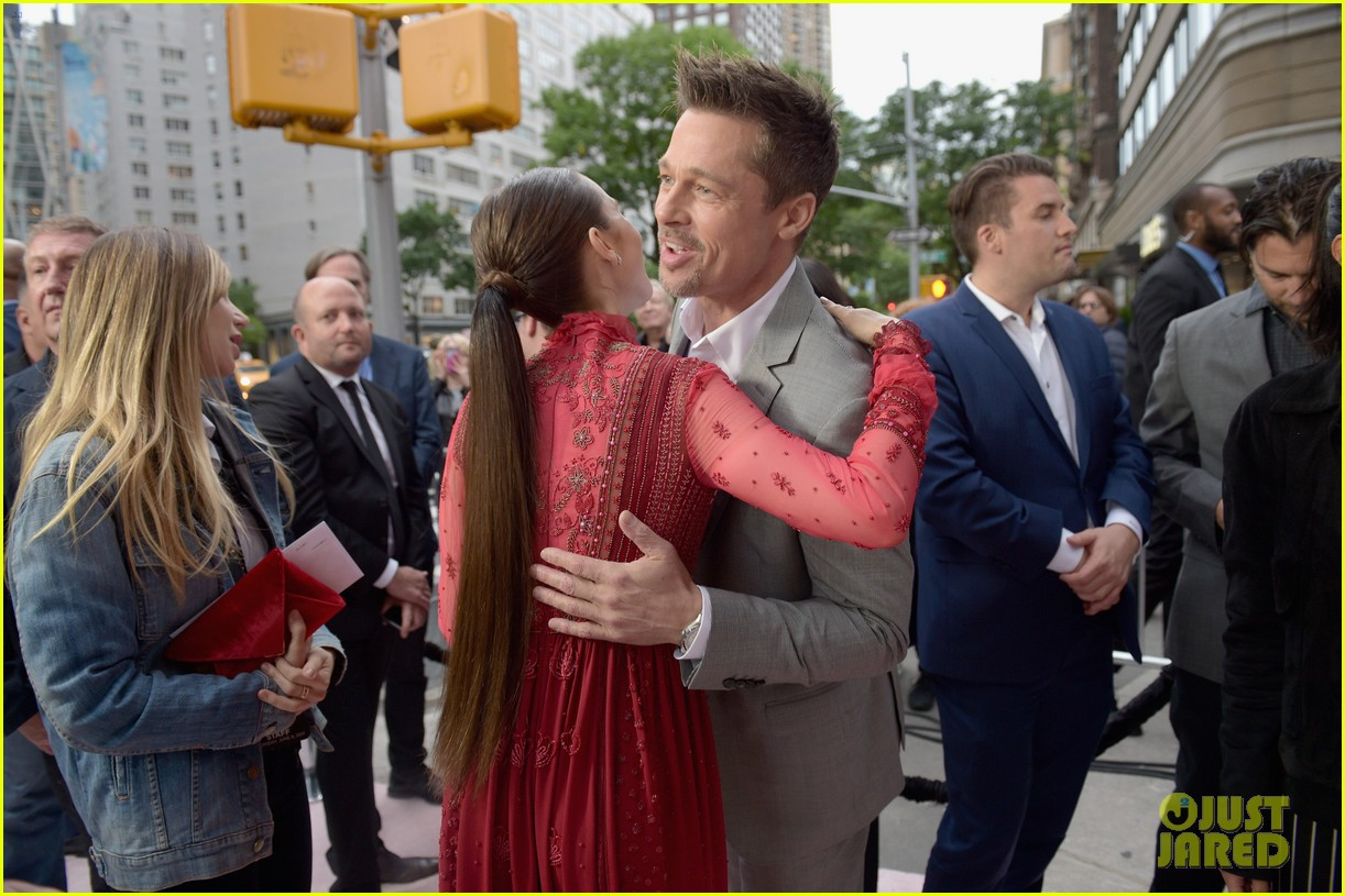 brad pitt gives out lots of hugs at okja nyc premiere 023911506