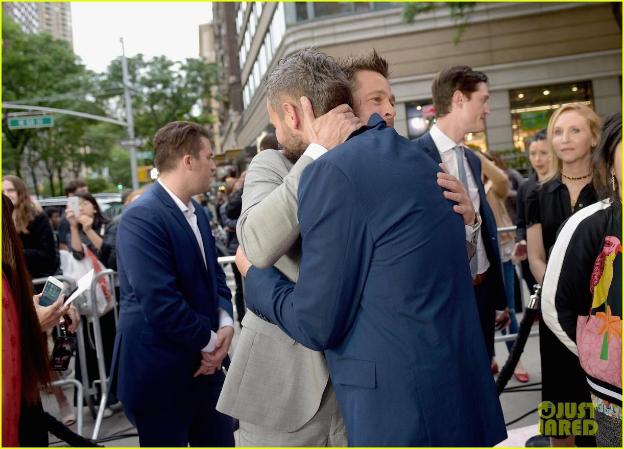 brad pitt gives out lots of hugs at okja nyc premiere 043911508