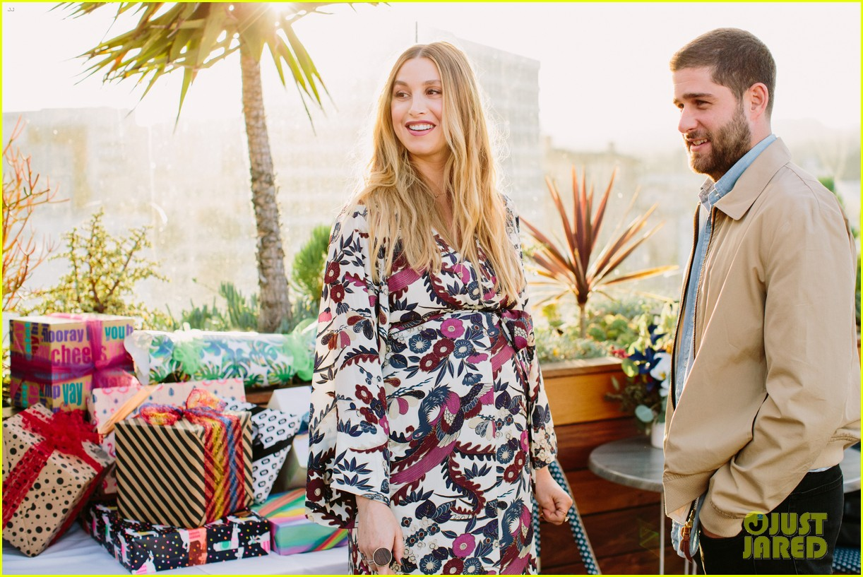 pregnant whitney port cradles baby bump at her baby shower 043915098