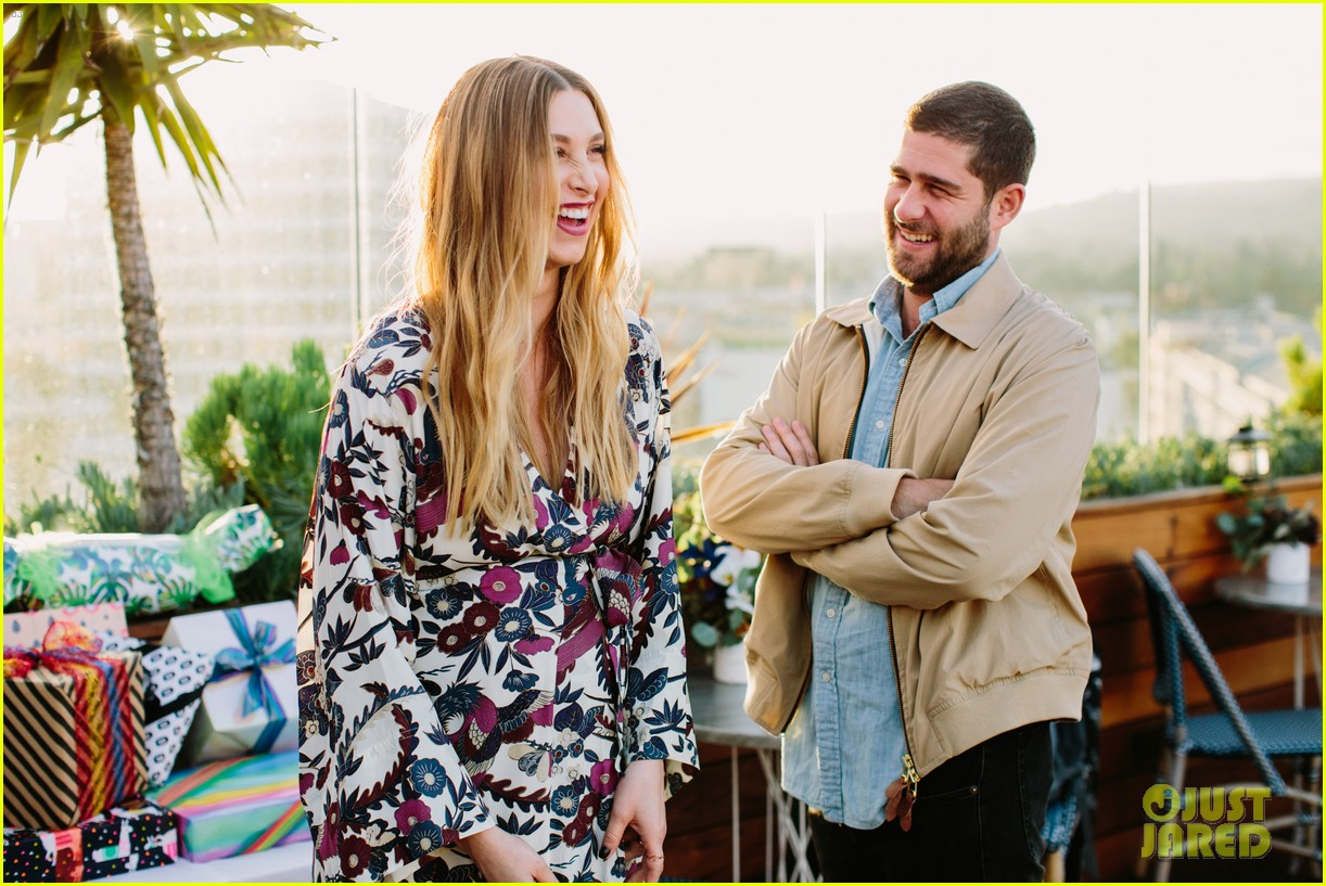 pregnant whitney port cradles baby bump at her baby shower 063915100