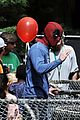 ryan reynolds deadpool flies into a kids birthday party 07