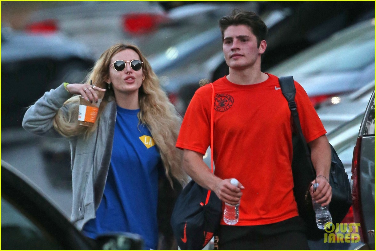 bella thorne cheers on gregg sulkin at soccer game 283908185