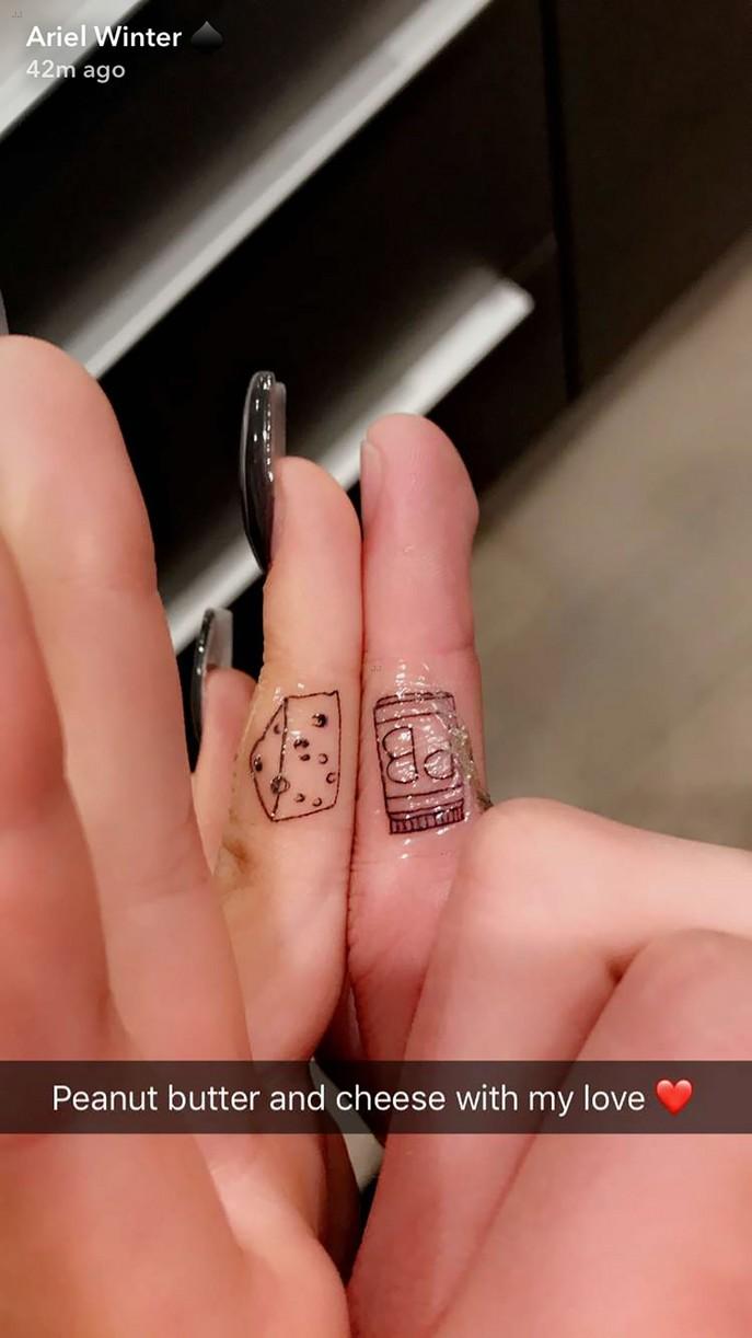 ariel winter levi meaden new tattoos matching heart 013914956