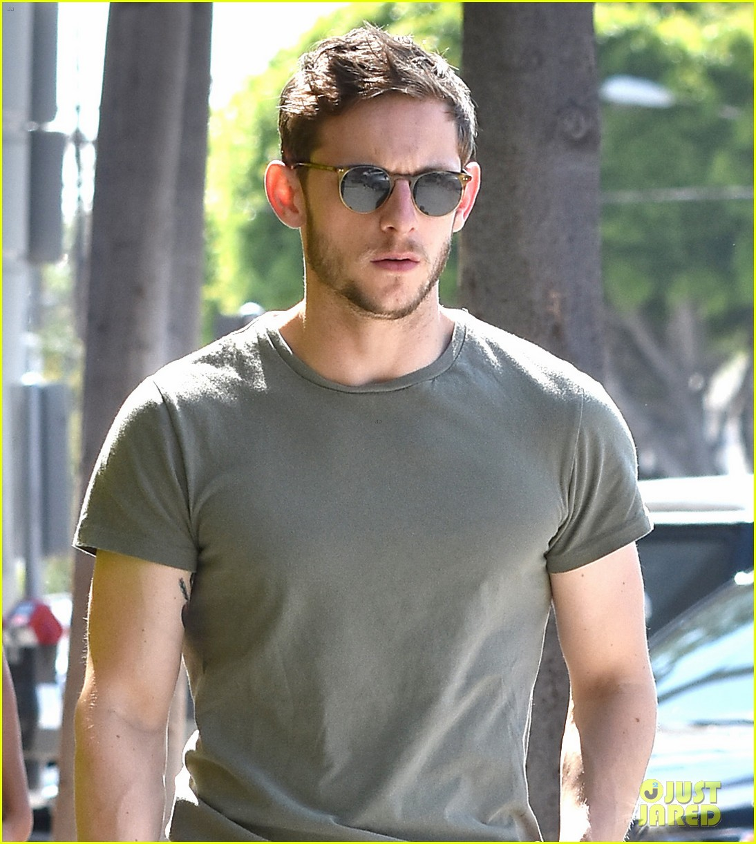 Jamie Bell Street Style in West Hollywood, Calif – 14 July ...