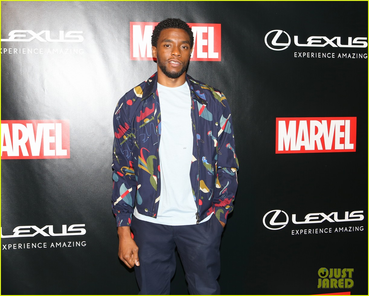 chadwick boseman reunites with black panther lexus at comic con 093931967