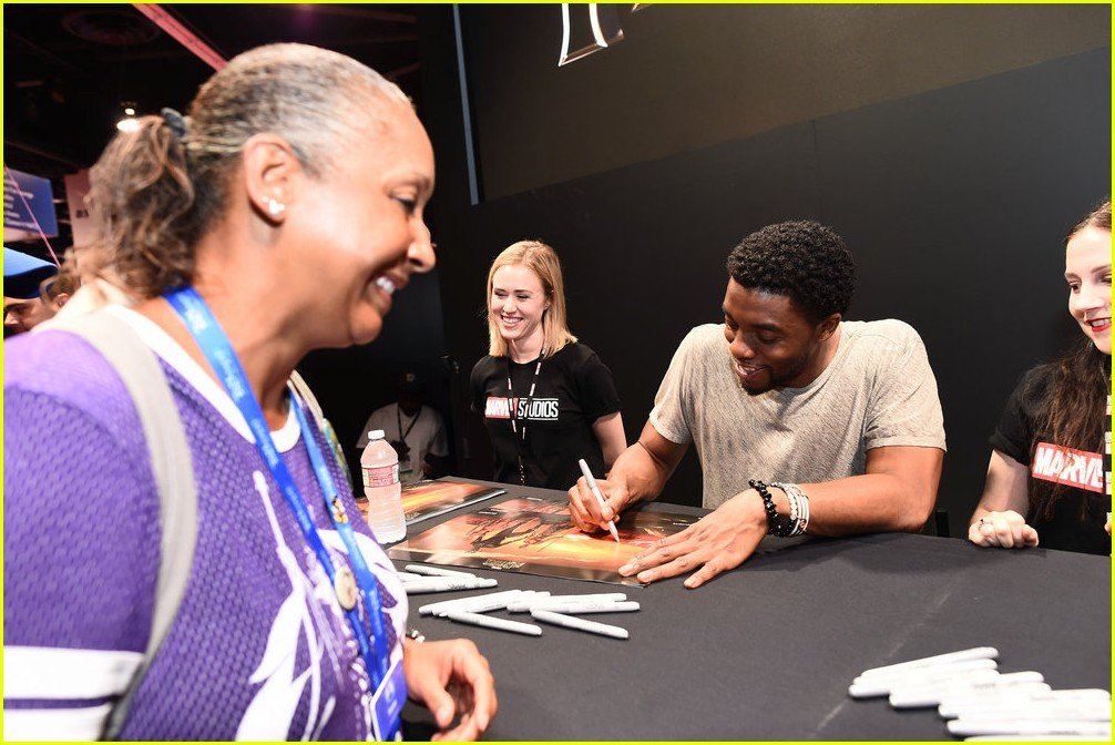 black panthers chadwick boseman meets fans at d23 expo 123928411