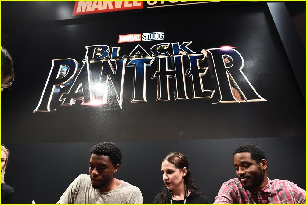 black panthers chadwick boseman meets fans at d23 expo 173928416