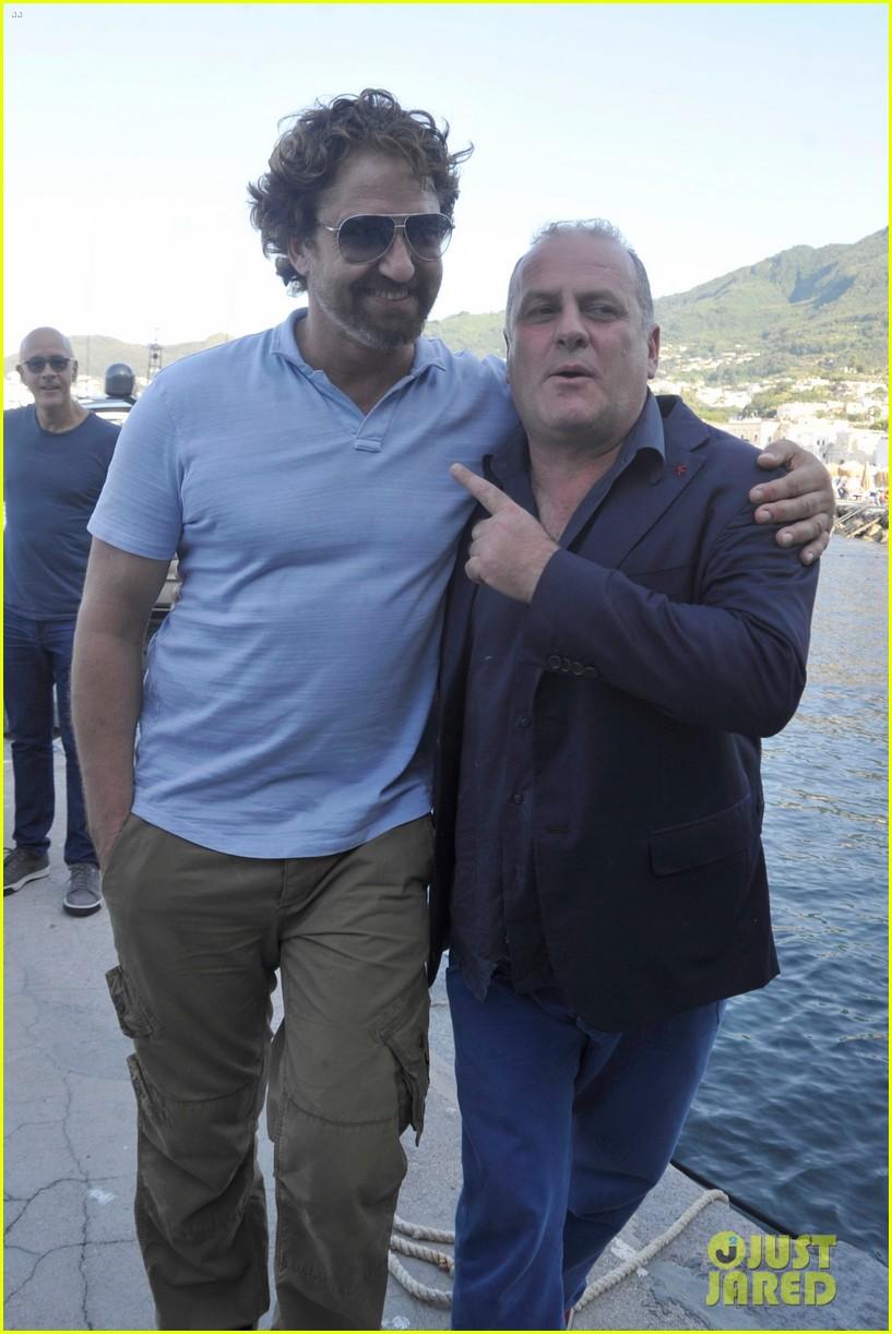 gerard butler ischia film festival arrival 033925813