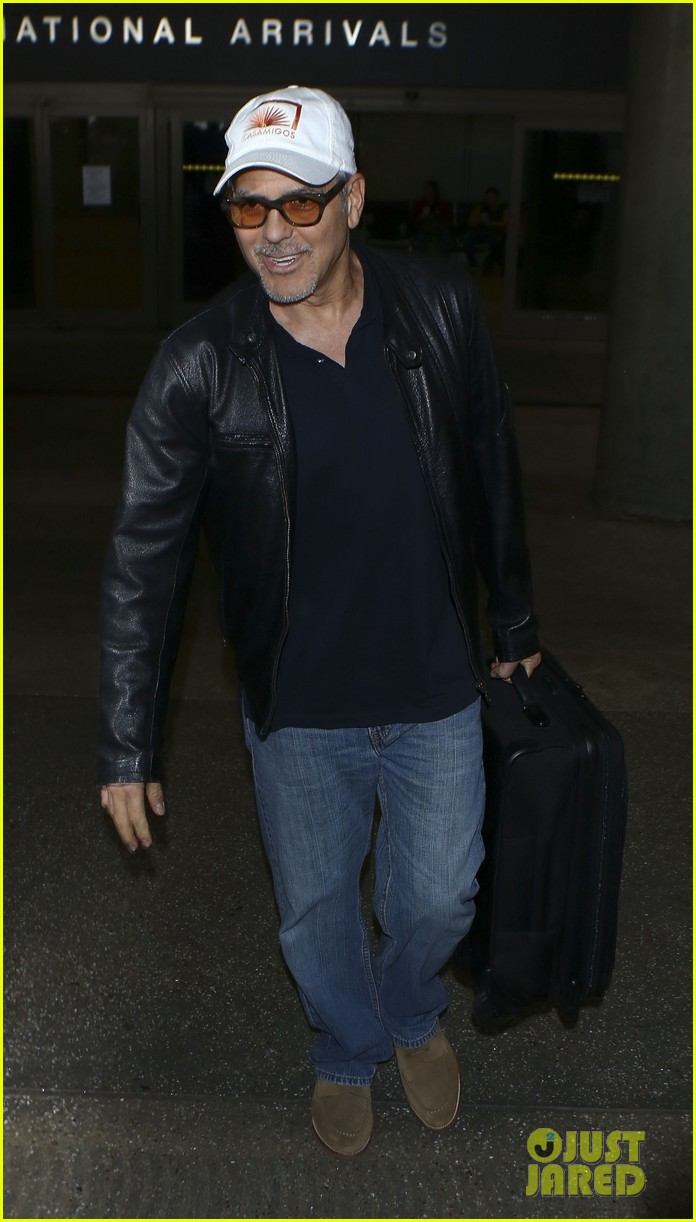 george clooney wraps up italy trip in leather jacket and casamigos hat 013928765