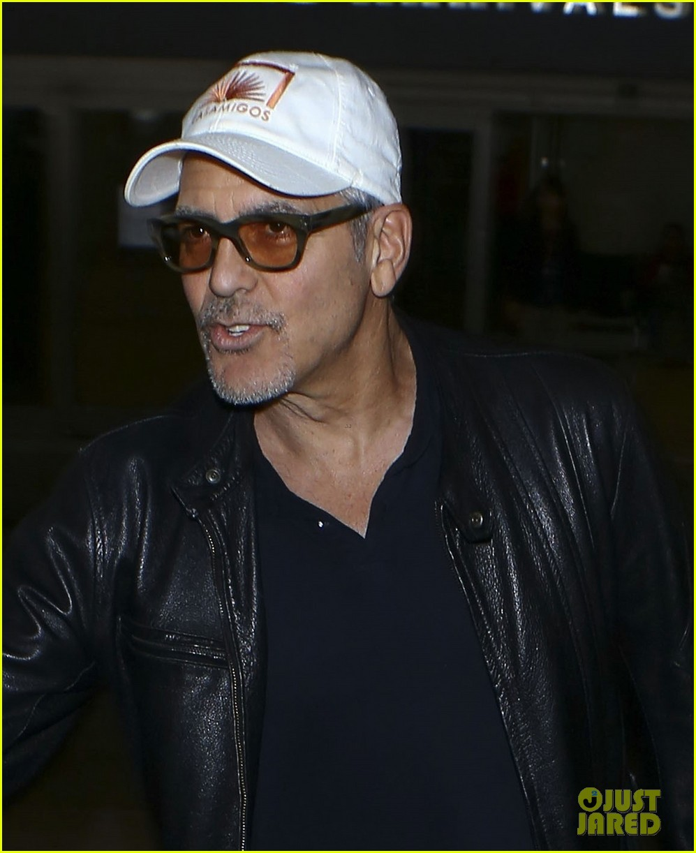 george clooney wraps up italy trip in leather jacket and casamigos hat 023928766