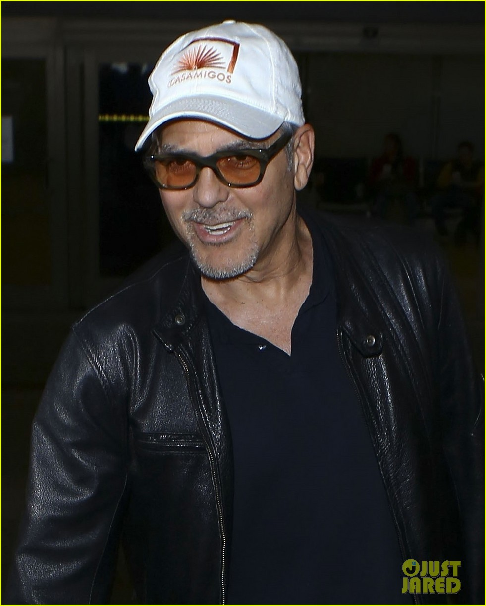 George Clooney back in the US July 2017 George-clooney-wraps-up-italy-trip-in-leather-jacket-and-casamigos-hat-04