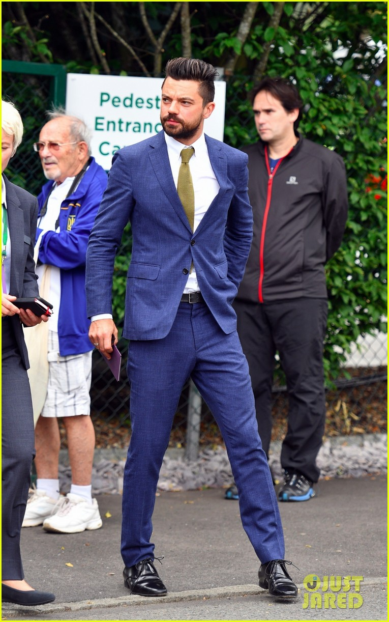 dominic cooper suits up for first day of wimbledon 053923270