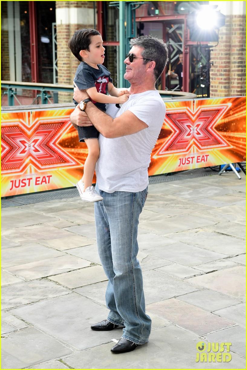 simon cowell brings son eric to x factor london photo call 013924331