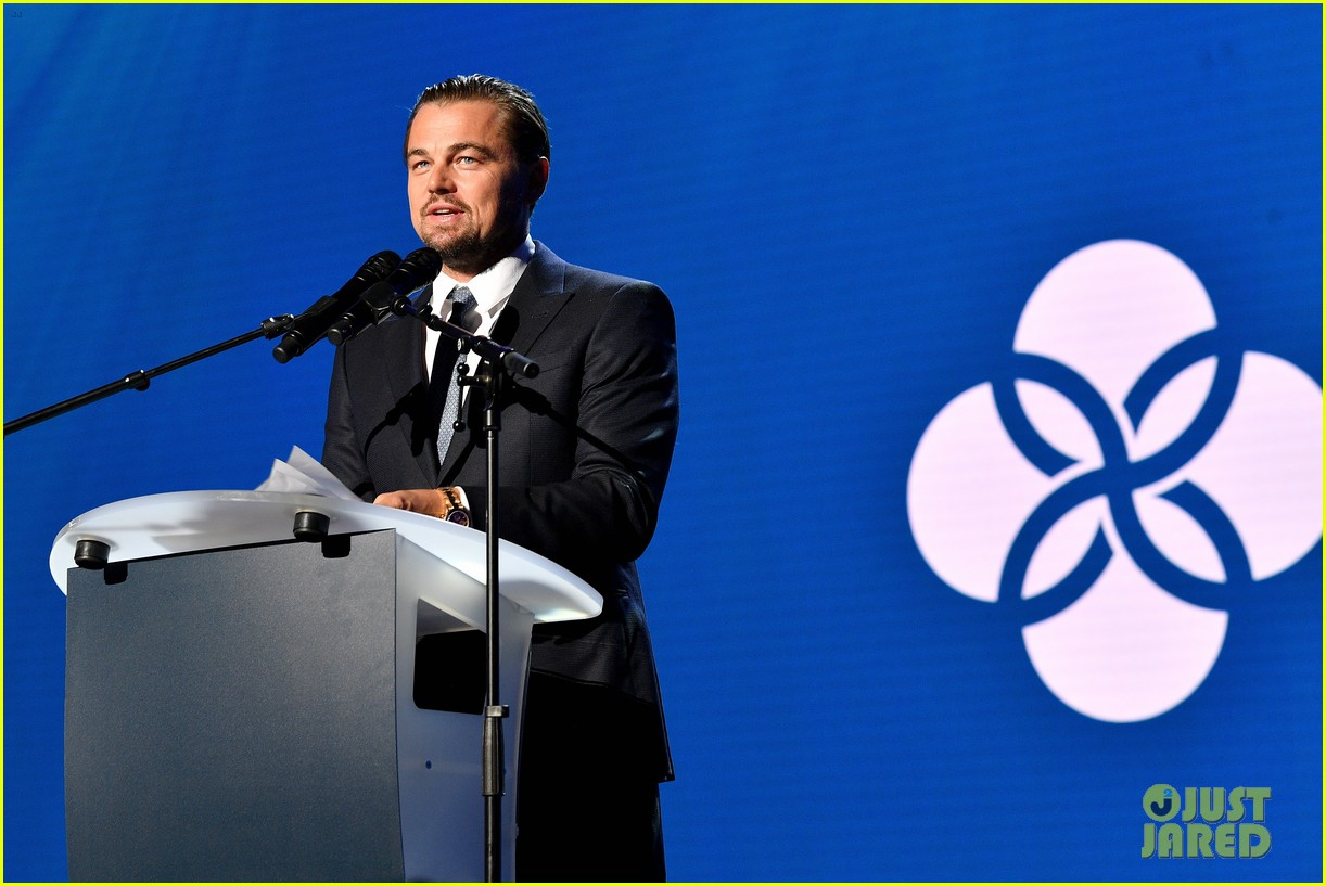 leo is supported by kate madonna at foundation gala 023934207