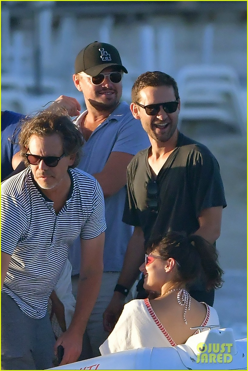 leonardo dicaprio tobey maguire relax on a yacht in st tropez 023934464