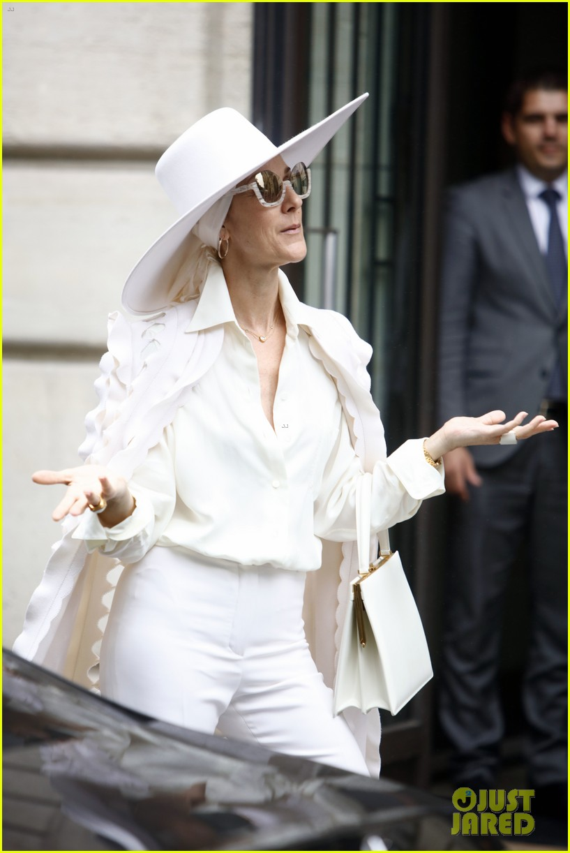 Celine Dion Looks So Fierce In Her All White Outfit
