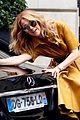 celine dion strikes a pose on her car in paris 04
