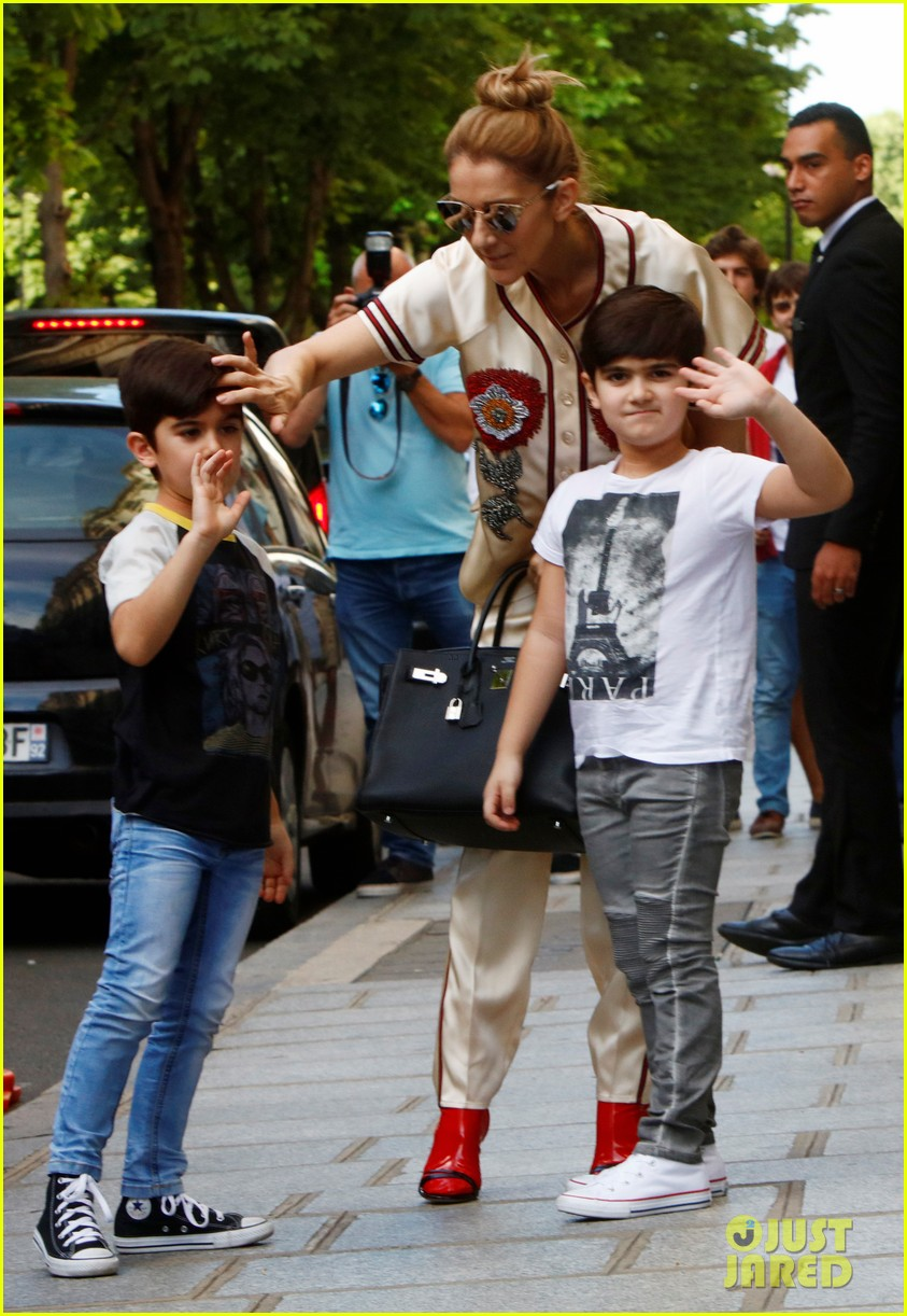 celine dion her twin boys pose for cute photos in paris 013929473